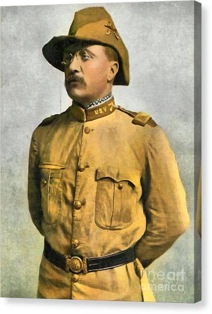 Theodore Roosevelt As A Rough Rider Canvas Print