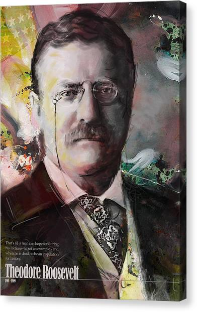 Theodore Roosevelt Canvas Print - Theodore Roosevelt by Corporate Art Task Force