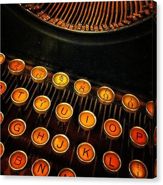 Typewriter Canvas Print - #theoldhouserevivalcompany #winnipeg by Lucy Siciliano