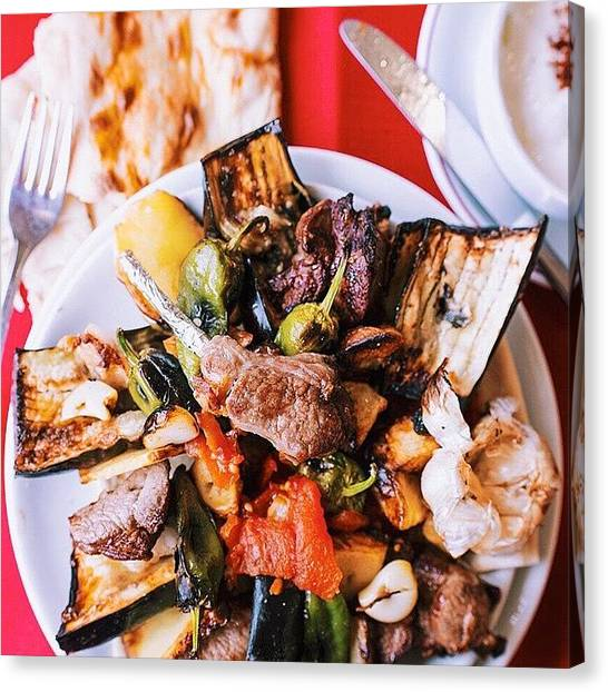 Roast Canvas Print - There Are Kebabs And Then There Is The by David  Hagerman
