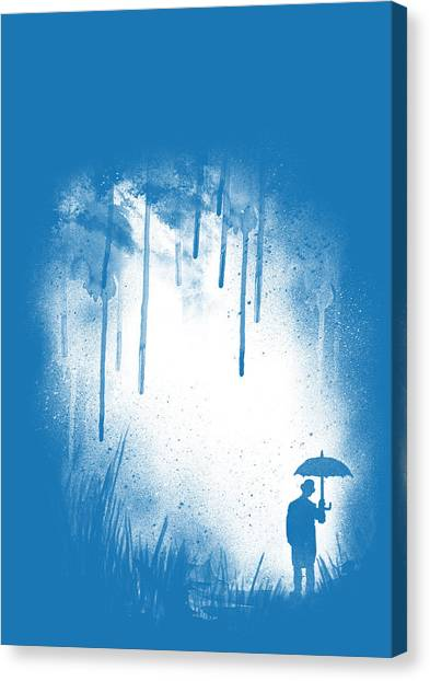 Umbrella Canvas Print - There Is Always A Way Out by Neelanjana  Bandyopadhyay