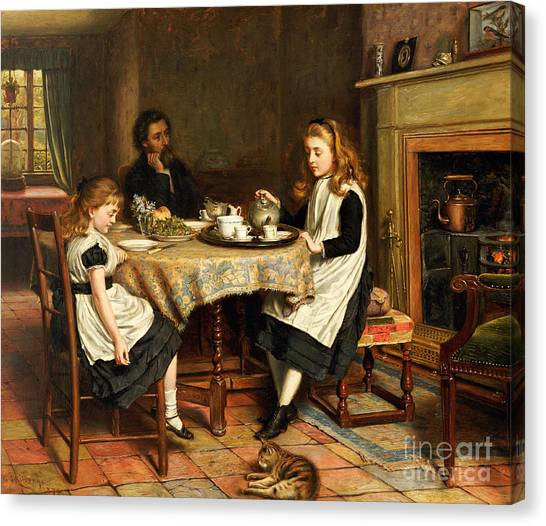 Missing Child Canvas Print - There Is No Fireside... by George Goodwin Kilburne