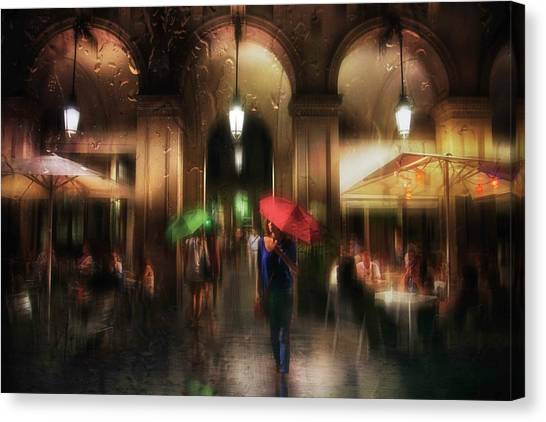 There Is Something In The Rain... Canvas Print by Charlaine Gerber