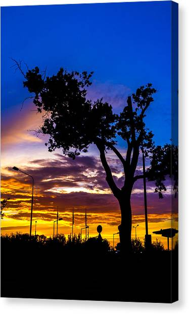 There Is Something Magical About The Sky Canvas Print