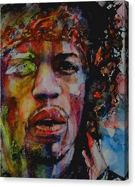 Jimi Hendrix Canvas Print - There Must Be Some Kind Of Way Out Of Here by Paul Lovering