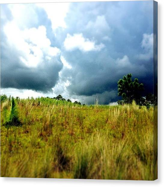 Golf Canvas Print - There's A Storm Brewing!!! #golf by Scott Pellegrin