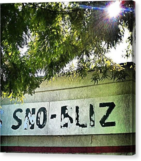 Snowball Canvas Print - There's No Biz Like Sno-bliz! #nola by Glen Abbott