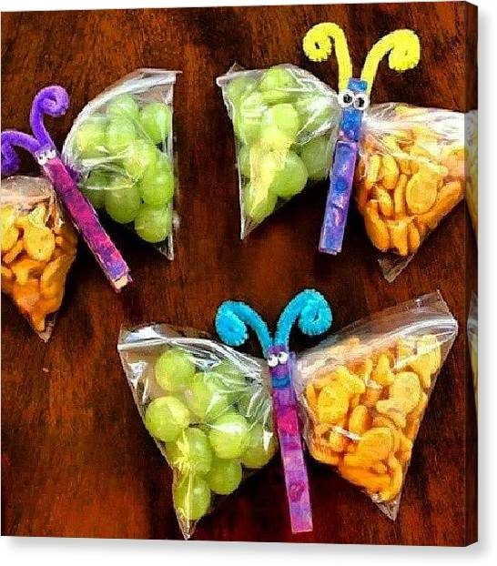 Goldfish Canvas Print - These Butterfly Snacks Look Good Lol I by Brandon Fisher