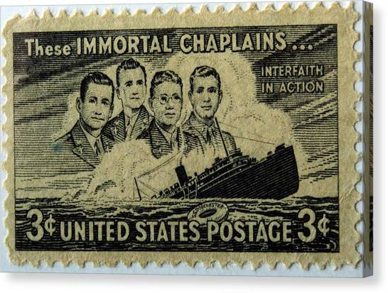 These Immortal Chaplains Canvas Print