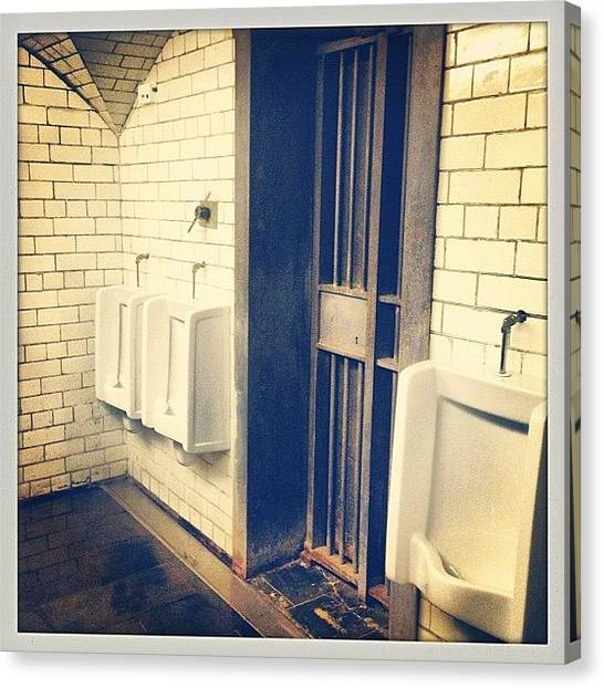 Vault Canvas Print - These Toilets Were The Vault Of A Bank by Luis Aviles