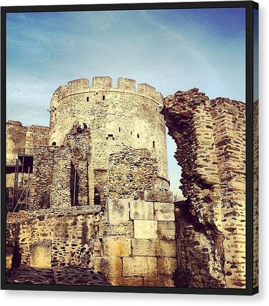 Hellenistic Art Canvas Print - Thessaloniki_trigonio_tower_i by Evangelos Charitopoulos