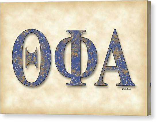 Alpha Phi Alpha Canvas Print - Theta Phi Alpha - Parchment by Stephen Younts