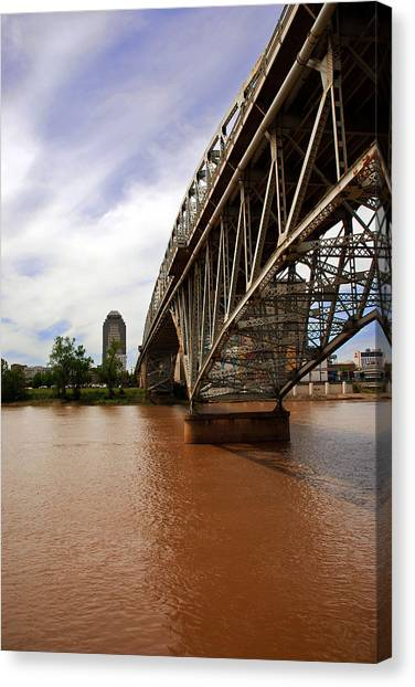 They Don't Call It Red River For Nothing Canvas Print