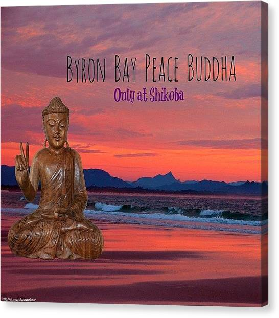 Om Canvas Print - They Have Arrived!! The Bron Bay Peace by Shikoba Photography