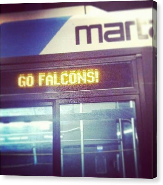 Falcons Canvas Print - They've Got The Marta Buses Decked Out by Kosi F