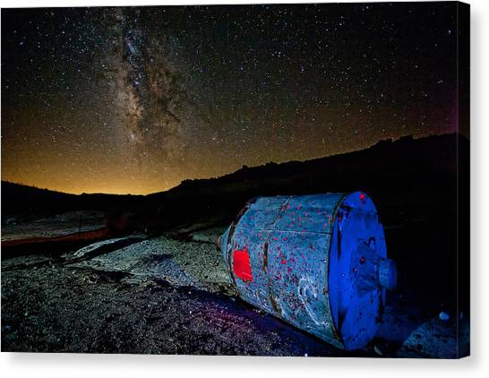 Mojave Desert Canvas Print - They've Landed by Peter Tellone