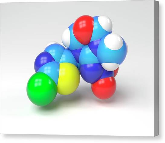 Biochemistry Canvas Print - Thiamethoxam Molecule by Indigo Molecular Images