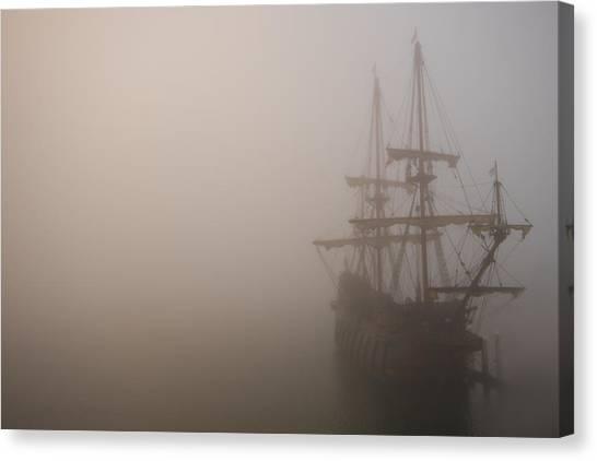 Thick Fog Blankets El Galeon  Canvas Print