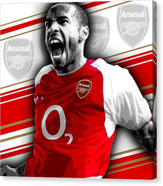 Arsenal Fc Canvas Print - Thierry Henry Arsenal Print by Pro Prints