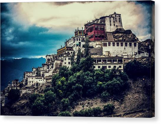 Thiksey Monastery Canvas Print by Jayanta Roy