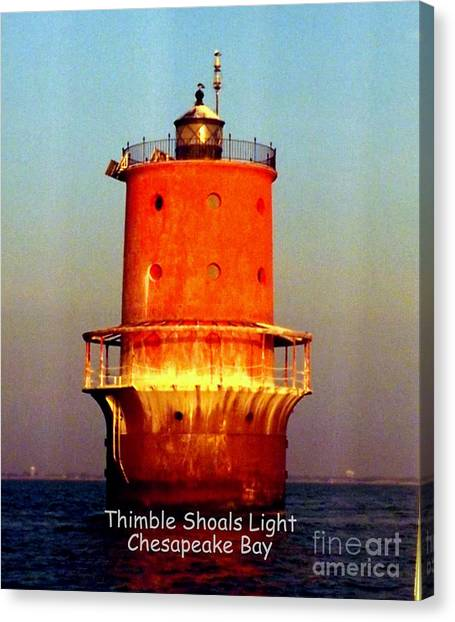 Thimble Shoals Light Canvas Print
