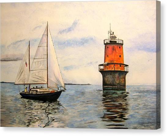 Thimble Shoals Light Canvas Print