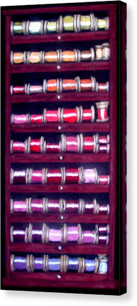 Thimbles In Cabinet Canvas Print