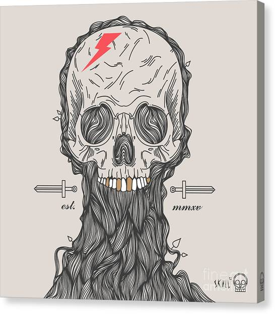 Star Trek Canvas Print - Thin Line Skull Label. Retro Vector by Karnoff