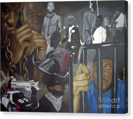 Think Black Man Canvas Print