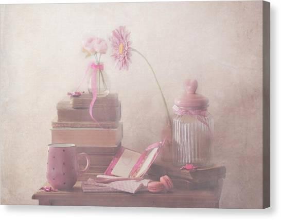Biscuits Canvas Print - Think Pink by Delphine Devos