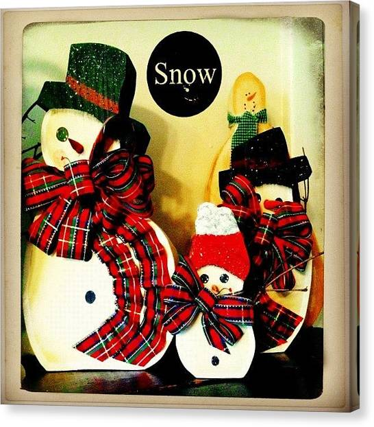 Holidays Canvas Print - Think Snow! #decoration #snow by Teresa Mucha