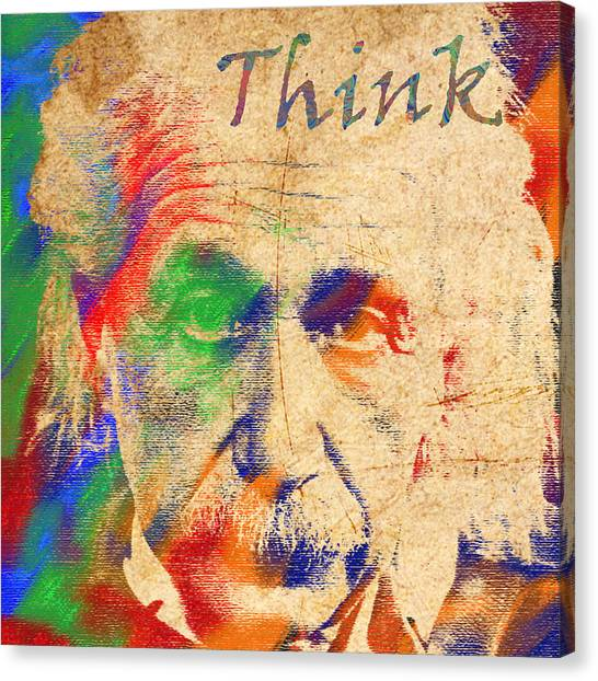 Think Canvas Print by Soumya Bouchachi