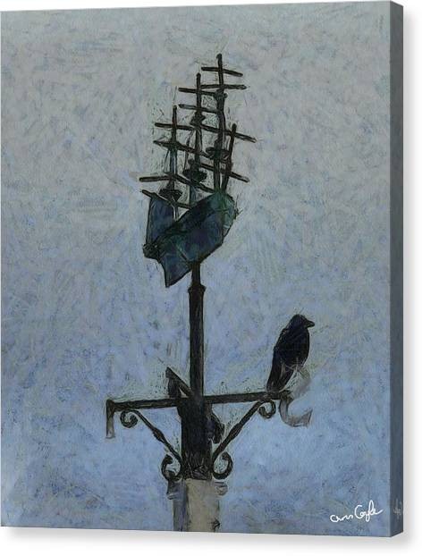 Thinkin Of Flyin South Canvas Print by Chris Coyle