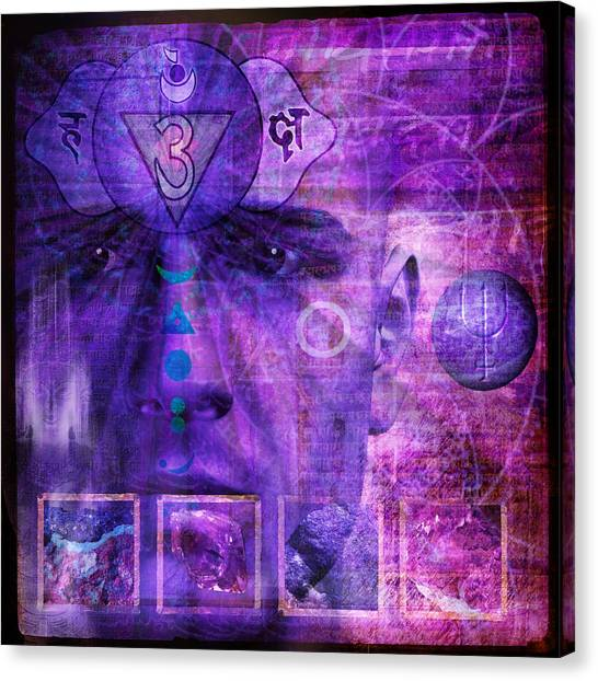 Canvas Print - Third Eye Chakra by Mark Preston