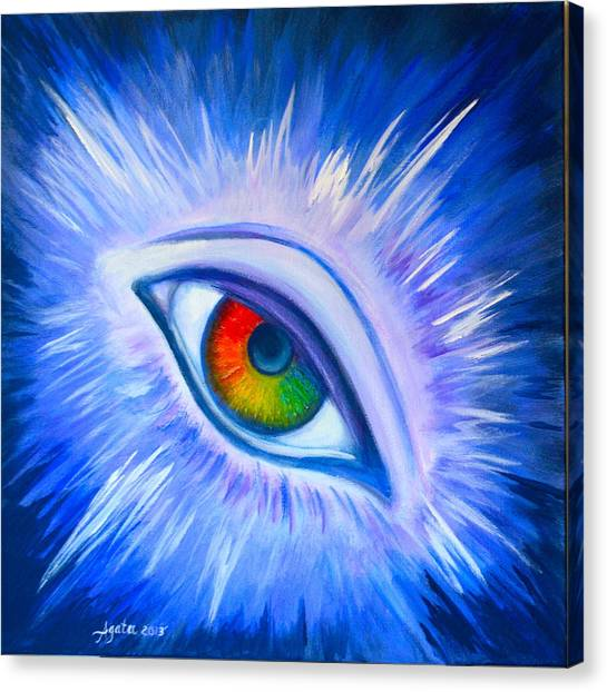 Third Eye Diamond Canvas Print