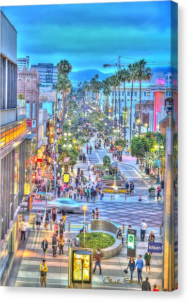 Third Street Promenade Canvas Print