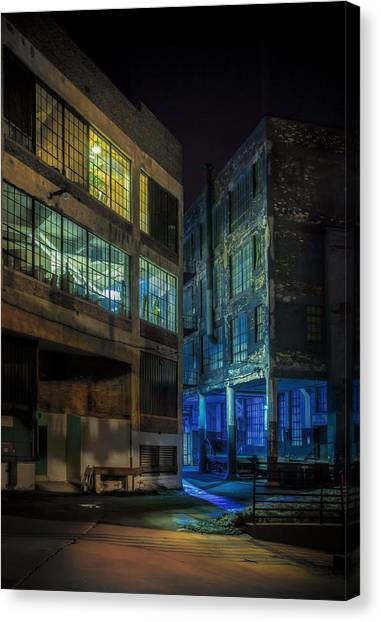Dock Canvas Print - Third Ward Alley by Scott Norris