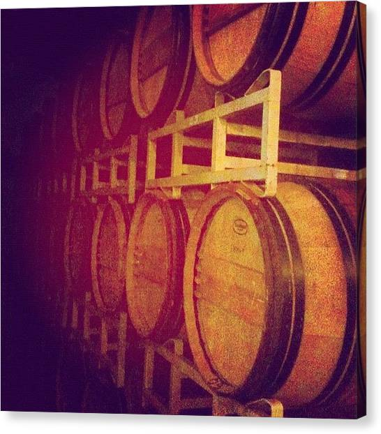 Wine Barrels Canvas Print - Thirsty by Paul Staphorsius