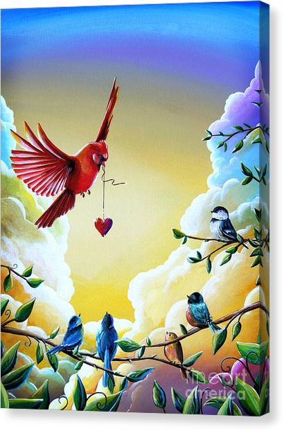 Chickadees Canvas Print - This Heart Of Mine by Cindy Thornton