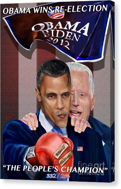 Joe Biden Canvas Print - This Is A Big ------- Deal by Reggie Duffie