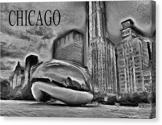 Cloudgate Canvas Print - This Is Chicago by Ely Arsha