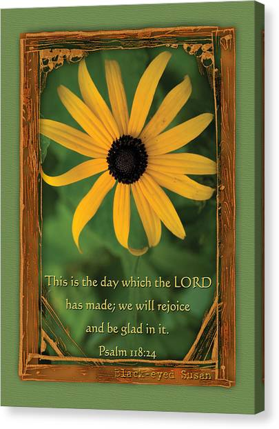 This Is The Day Sunflowers Canvas Print
