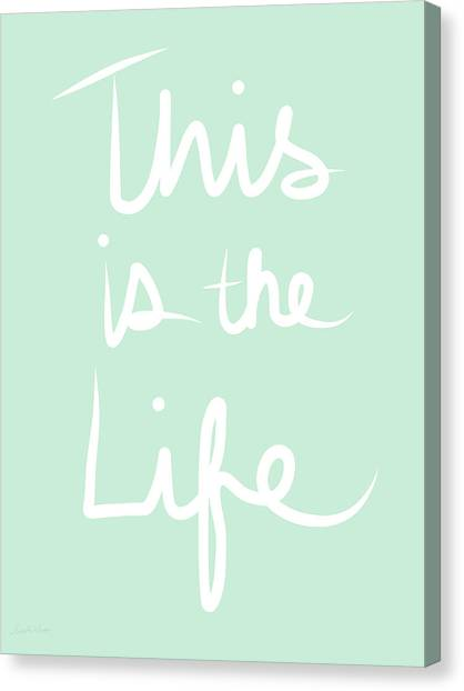 Yoga Canvas Print - This Is The Life by Linda Woods