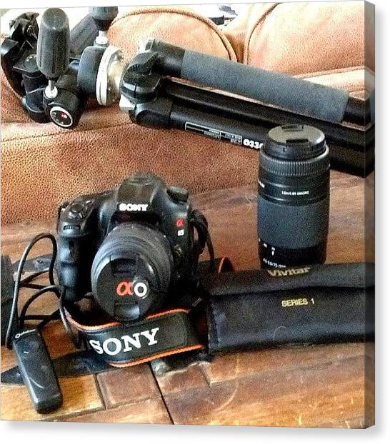 Equipment Canvas Print - This Is The Sony Alpha 65 Dslr Camera by Holly Sharpe-moore