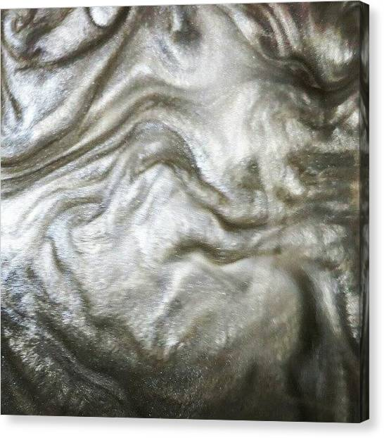 Metallic Canvas Print - This Is What I Drained From The Wet Lab by Lisa Bertolin