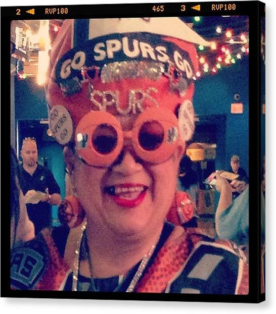 Spurs Canvas Print - This Lady Deserves Season Tickets For by Brittany Po