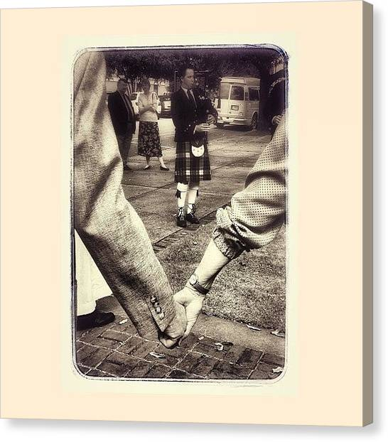 Bagpipes Canvas Print - This Moment Reminded Me That Sometimes by Deana Graham