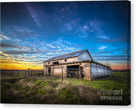 Horse Farms Canvas Print - This Old Barn by Marvin Spates