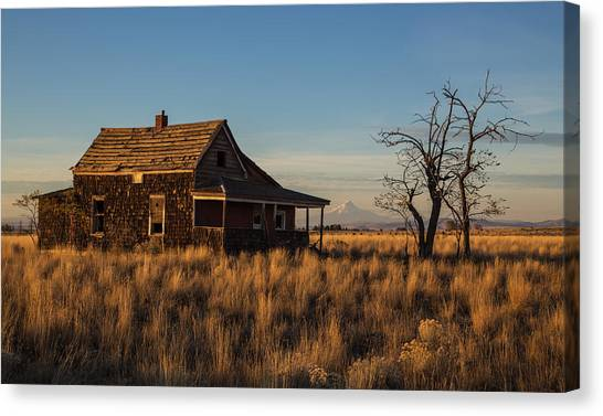 Abandoned House Canvas Print - This Old House by Angie Vogel