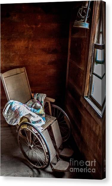 Wheelchair With A View Canvas Print